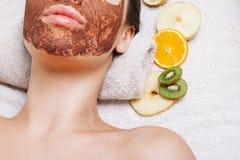 Máscaras hechas en casa naturales del facial de la fruta Imagen de archivo