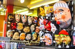 Máscaras japonesas Imagen de archivo libre de regalías