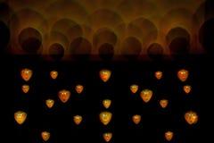 Máscaras ligeras de Bwindi - luz 2011 del artista Imagen de archivo libre de regalías