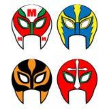 Máscaras mexicanas da luta romana Fotografia de Stock Royalty Free