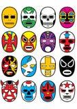 Máscaras mexicanas Wrestling de Lucha ilustração royalty free