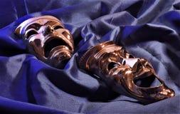 Máscaras no azul Foto de Stock