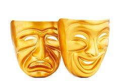 Máscaras - o conceito do teatro Fotos de Stock