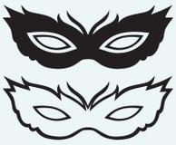 Máscaras para los trajes de mascarada Foto de archivo