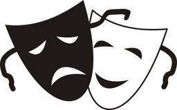 Máscaras teatrais Foto de Stock