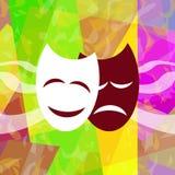 Máscaras teatrais Foto de Stock Royalty Free
