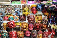 Máscaras tibetanas da ópera Foto de Stock