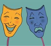 Máscaras trágicas da comédia Fotos de Stock Royalty Free