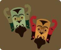 Máscaras tradicionais Foto de Stock Royalty Free