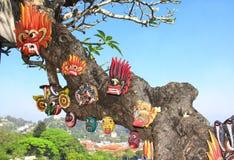 Máscaras tradicionais dos espírito, dos demônios e dos animais, Sri Lanka fotografia de stock royalty free