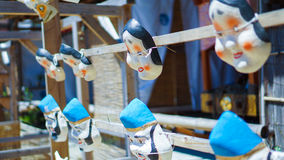 Máscaras tradicionais japonesas fotografia de stock