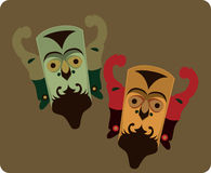 Máscaras tradicionales Foto de archivo libre de regalías