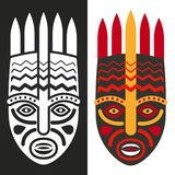 Máscaras tribais do africano do maya ilustração royalty free