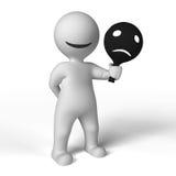 Máscaras tristes e felizes Imagem de Stock