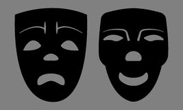 Máscaras tristes e felizes Imagens de Stock