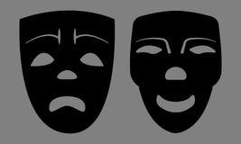 Máscaras tristes y felices Imagenes de archivo