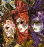 Máscaras venecianas Fotos de archivo libres de regalías