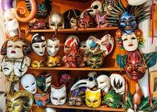 Máscaras venecianas coloridas de la mascarada Imágenes de archivo libres de regalías