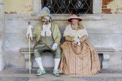 Máscaras venecianas del carnaval Imagen de archivo
