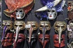 Máscaras venecianas del carnaval Fotografía de archivo