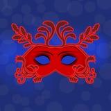 Máscaras venecianas del carnaval Celebración y diversión libre illustration