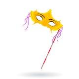 Máscaras venecianas del carnaval Celebración y diversión ilustración del vector