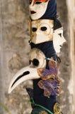 Máscaras venecianas maravillosas Foto de archivo