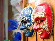 Máscaras venecianas tradicionales. Fotografía de archivo