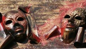 Máscaras venetian abstratas Fotografia de Stock