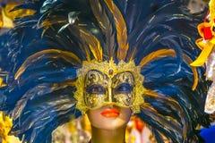 Máscaras Venetian azuis Veneza Italy Fotos de Stock