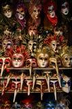 Máscaras Venetian coloridas Imagens de Stock