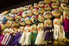 Máscaras vietnamianas do Rattan Imagens de Stock Royalty Free
