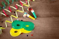 máscaras y silbido del carnaval Imagen de archivo