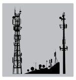 Mástil de Communicatios stock de ilustración