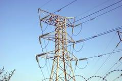 Mástil de la corriente eléctrica Fotos de archivo