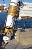 Mástil de la nave de la vela Imagenes de archivo