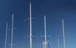 Mástil del barco de vela Imagen de archivo libre de regalías