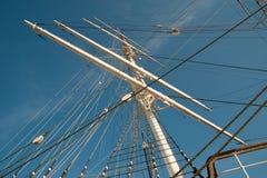 Mástil del velero Fotografía de archivo