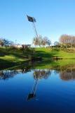 Mástil reflejado del reflector Imagenes de archivo