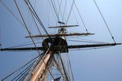Mástil viejo de la nave Fotos de archivo