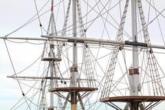 Mástiles de la nave fotos de archivo