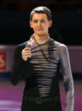 Máxima KOVTUN (RUS) con el medallista de plata Fotografía de archivo