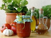Mâche de tomate Images libres de droits
