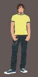 Mâle d'adolescent illustration de vecteur