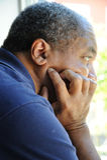 Mâle d'Afro-américain. Images stock