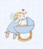 Mâle d'ange de gardien illustration stock