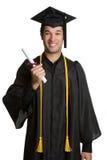 mâle d'isolement par diplômé Photographie stock libre de droits