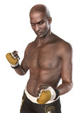 Mâle de boxeur de combattant d'UFC Image libre de droits