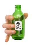 mâle de main de vert de bouteille image stock