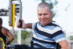 Mâle handicapé Image stock